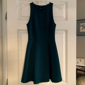 Hunter Green Skater Dress